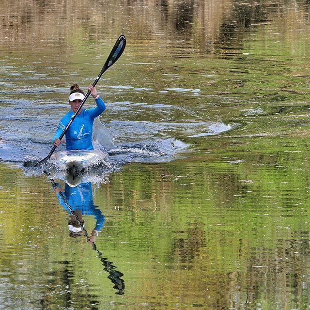 The rest of the season will reflect what you did in quarantine...Jana during her practice on Danube (Dunaj) #inwaterwelive . . . . . #canoeslalom #planetcanoe #practicehardplayharder
