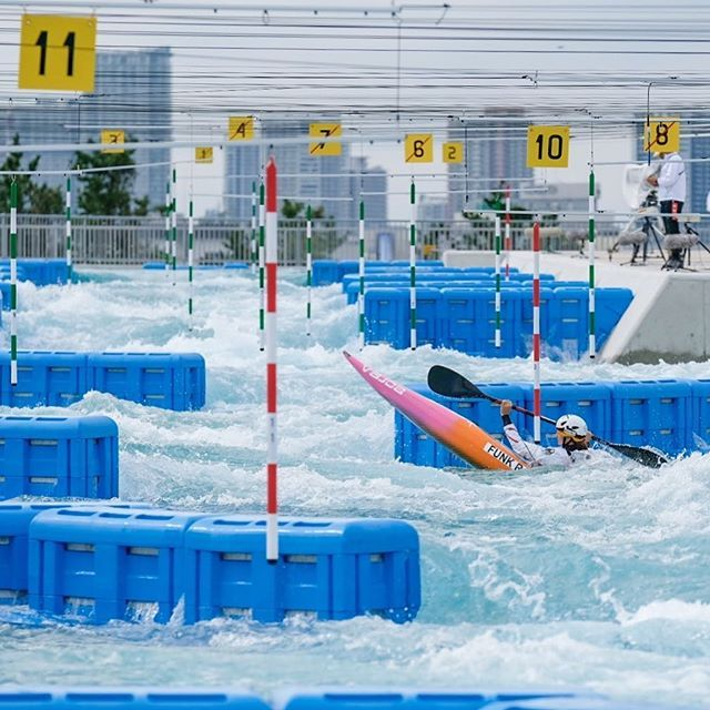 🚀Ricarda launched for victory on the last pre-Olympic event in Tokyo. Congratulations go also to @hilgertova_amy and @cedric_joly_c1 for 🥈🥈 . . . . . . #canoeslalom #inwaterwelive #weareoutthere #planetcanoe #tokyo #japan
