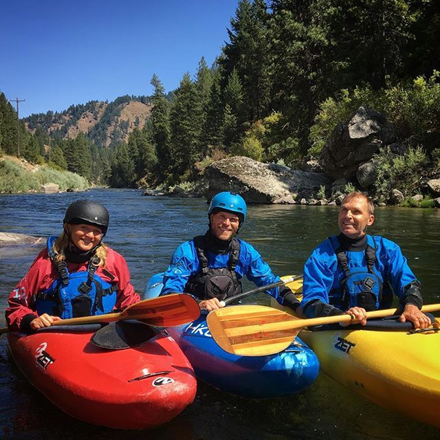 The founders came to approve of the new US headquaters and brush off their whitewater skills in the process. . . . . . #inwaterwelive #weareoutthere #whitewater #kayaking #payetteriver #southfork #idaho