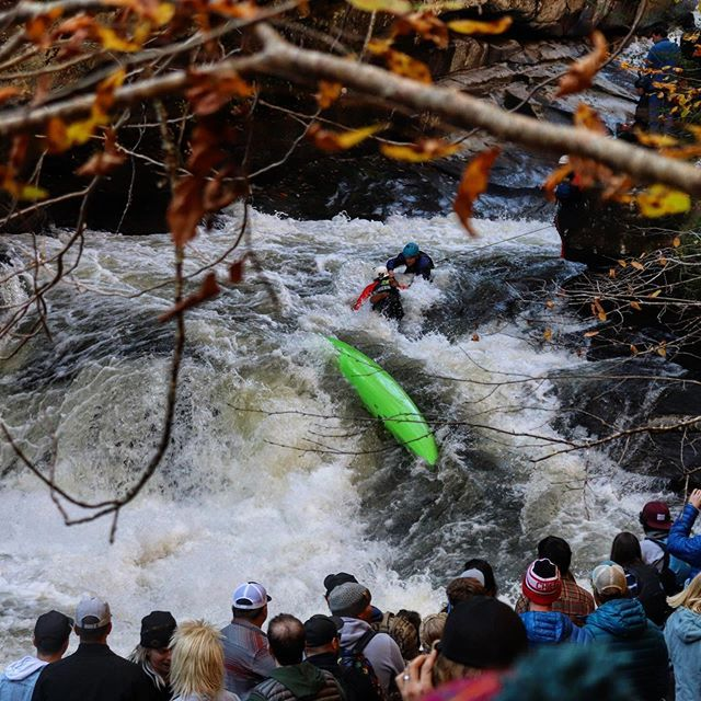 "Green Race 2019 first impressions: Much respect to all the racers but the safety??? Never seen anything like it! What a performance!👏👏👏""Catch of the Green"" should be just its own category! #nfl #widereceiver #inwaterwelivethankstothesafety . . . . . . #greenrace2019 #greenrace #safety #whitewaterkayaking #greenriver #kayaking #extremerace"